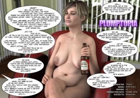 BBW Sitting with fat belly MILF by plumptopia
