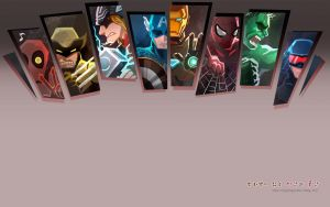 Marvel Heros wallpaper by Mushstone