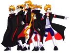 Akatsuki AU :The 6 Paths of Douchebags: by E-C98