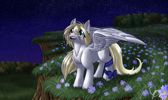 Angelfeather13 - Commission 1/4 by StrawberryJimJam