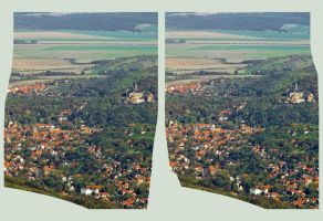 Wernigerode Hyperstereo :: Cross View HDR 3D :: by zour