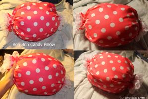 Candy BomBom Pillow by lkcrafts