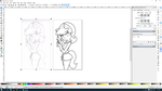 Kitty Lineart process in Inkscape by TurboDudley