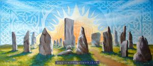 Celtic Standing Stones by toms-art