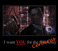 Cerberus recrutation motivation poster by Agent-Smith2219