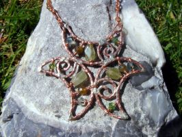 Copper Triple Crescent Moon by MoonLitCreations