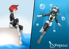 Scuba Mars by LudiculousPegasus