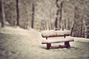 Winter bench by Bomb-Creator