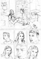 Peter Parker penciled practice pages page one by tomographiser
