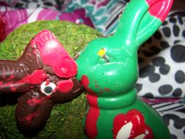 Candy Zombie Easter Bunny by whimsyandmalice