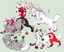 Pups for iinky-paws [1-4] by NoirAdopts