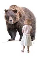 Bear and Girl Color FAC72 by kenraney
