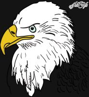 Bald Eagle Inked [AI] by JdnGfx