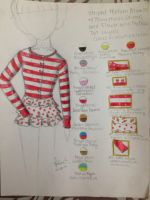 Fashion Sketch #3: Layered Striped Blouse by Myindiansummer