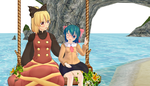 (MMD X Touhou)On the vacation by RED-IMPRISONER