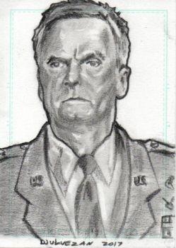 Stargate SG1 Jack O'Neill Sketch Card 3 by boxofcreatures