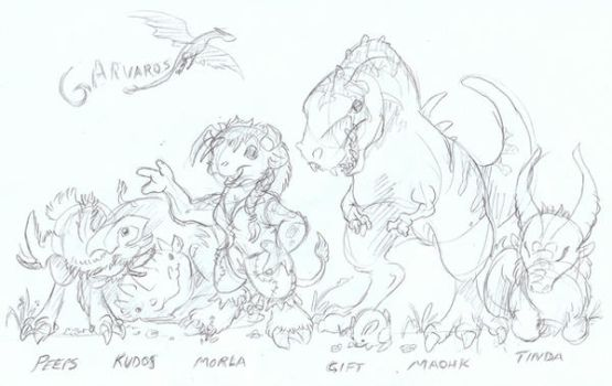 Chibi Morla and Friends by Marowen