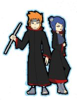 konan+pein when the sky cryes by Lezzette