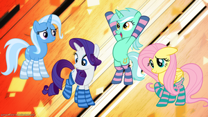 Socks for everypony! (background by Game-BeatX14) by Huskyfan