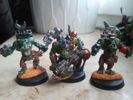 some of my old orks 2 by skincoffin