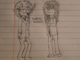 Taco And Jeff - School Sucks chibi (maybe) by TheRocketterGhost