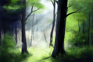 Forest Speed Paint by midelaye