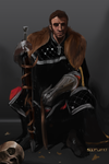 Speedpaint-- Nobleman and Skull by fu-bby