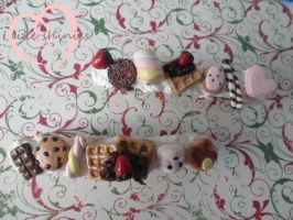 Sweet hair barrettes by ilikeshiniesfakery