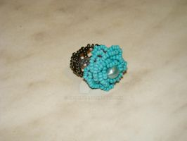 Turquoise rose ring by jasmin7