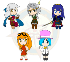 Assorted Chibis - Set 24 by Dragon-FangX