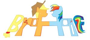 BROHOOF APPLE JACK RAINBOW DASH by sallycars