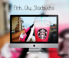 Pink City Starbucks Wallpaper By Julieta7599 by Julieta7599