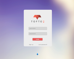Toftec Login concept by lpzdesign