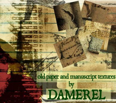 Textures: Old Paper and Script by damerel