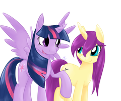 .:Comm:. Just two unicorns talking.. by Electrisa
