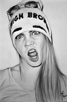 Cara Delevingne by KgTheOctopus