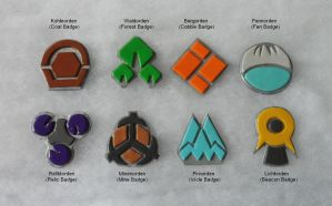 Sinnoh Gym Badges by AidaSechem