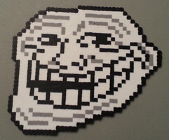 Trollface perler by DuctileCreations