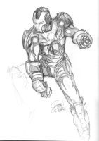 Iron Man Sketch by Ratdoodle8