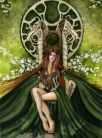 The Green Dragon Queen by Acorncupcake