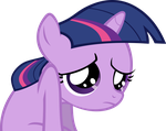 Sad Filly Twilight Vector by hombre0