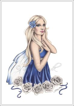 Winter Rose Fairy by Zindy