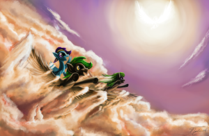 Art Trade - This Is What It's Like to Fly by GhostDragonSpirit