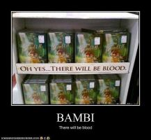 very demotivational Bambi by Cheatcodechamp