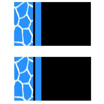 Blue and  Black Giraffe Business Card Templates by StacyO