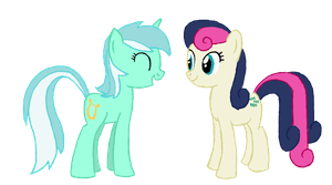 Lyra and Bon Bon by zeppony