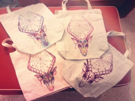 Impala Tote Bags For Sale by shadowbucket