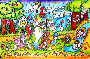 (Especial) Crossing in the Yoshi's Island by MisterYoshiandwatch