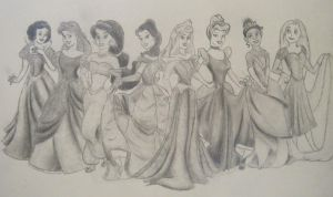 Disney Princesses by Eyedowno