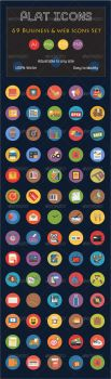 69 Flat Icons - Business and Web Services Icon by CURSORCH